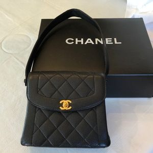 Chanel Kelly bag with shoulder strap, black